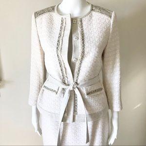 Elie Tahari Boucle Tweed SkirtSuit Jacket S/P NWOT